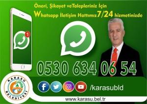 """""""Karasu Belediyesi'nden WhatsApp Hattı"""""""