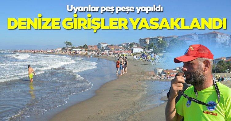 Sakarya'da Denize Giriş Yasaklandı Sakarya'nın Karasu, Kocaali ve Kaynarca ilçelerinde,